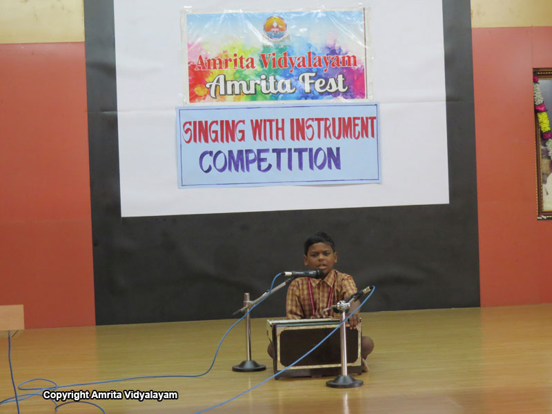 Amrita Fest - Singing with an Instrument -